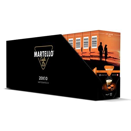 Martello Kaffeekapseln | CAFE GRANDE | UTZ Zertifiziert | Nachhaltig und Fair | Von Hand Gepflückt | Master Packung 200 Kapseln (20 x 10), Für MARTELLO-Kapselmaschinen