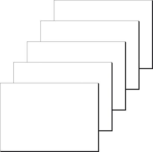 SIGEL HO300 5er Pack weiße Papier-Schreibunterlagen, Malblock, ca. DIN A2 - extra groß, 30 Blatt, 80 g