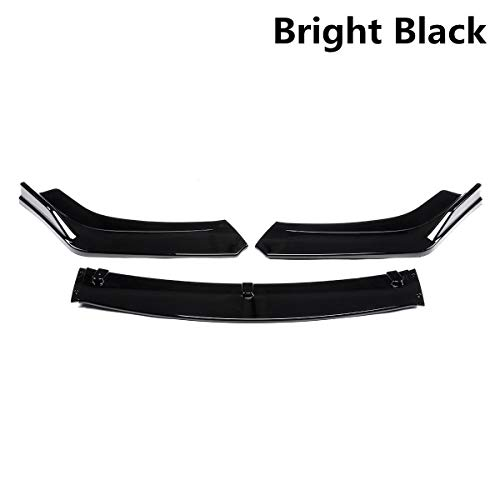 Ladekantenschutz Carbon-Faser-Look/Black Car Front Lower Bumper Lip Diffuser Spoiler Bodykit for Honda Civic for Sedan 4dr 2016 2017 2018 (Color : B)
