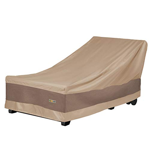 Duck Covers Elegant Waterproof 86 Inch Patio Chaise Lounge Cover