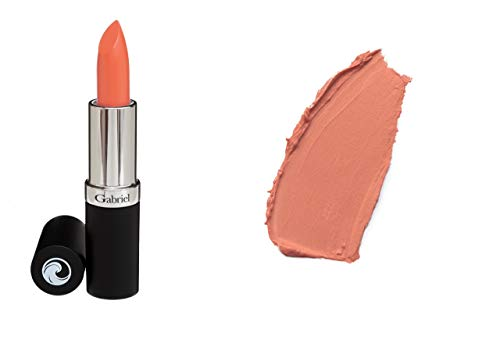 of makeup lipsticks Gabriel Cosmetics Lipsticks,0.13 Ounce, Natural, Paraben Free, Vegan, Gluten-free,Cruelty-free, Non GMO, High performance and long lasting, Infused with Jojoba Seed Oil and Aloe. (Salmon)