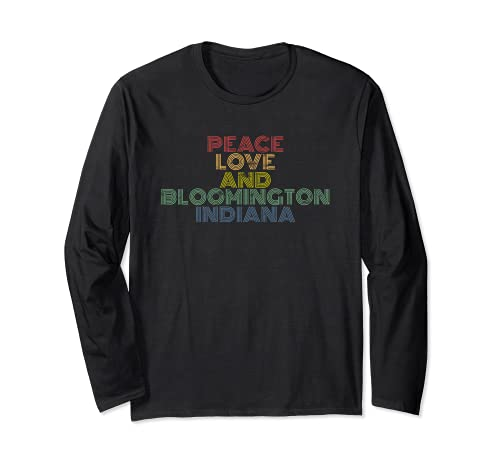 Paz amor Bloomington Indiana arco iris igualdad Manga Larga