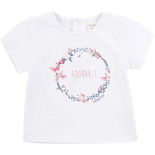 CARREMENT BEAU T-Shirt en Coton avec imprimé Bebe Couche Blanc 3ANS