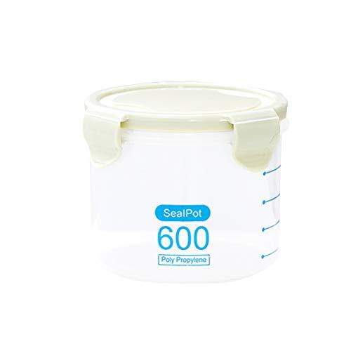 Bestonzon Boîte de conservation hermétique en plastique étanche avec couvercles de verrouillage pour céréales, farine, sucre, riz (vert 600 ml)