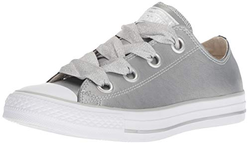 Converse Damen Chuck Taylor CTAS Big Eyelets Ox Sneakers Mehrfarbig (Metallic Silver/White 499), 37 EU