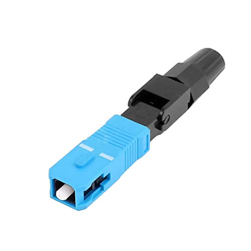 New Lon0167 FTTH SC Destacados/UPC-P SM eficacia confiable Cable de fibra óptica Adaptador rápido Conector Azul Negro(id:386 e8 4c 17c)