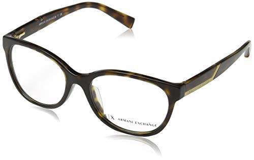 Armani Exchange AX3032F-8037-53 Schmetterling Brillengestelle 53, Bruan