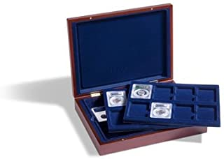 Coin Display Case for 24 Certified Coins (PCGS, NGC, etc. Slabs) by Lighthouse