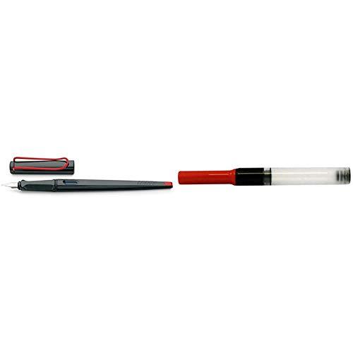 Lamy FH06810 - Pluma estilográfica (tinta azul), negro + 1324763 - Conversor Z28 para pluma estilográfica