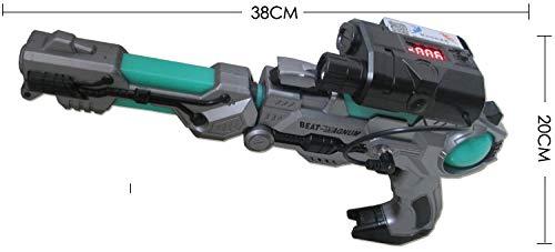 Antong Etiqueta láser de 600 pies, Pistola de Juguete para Exteriores/Interiores, Pistola de Batalla Profesional, Sistema de Combate Lazer, etiquetador editable y Pistola de configuraciones de Juego