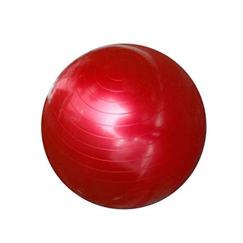 XGYUII Gymnastikball Yoga-Kugel Gymnastikball PVC Eindickung Anti-Explosions-Produktion Ball für Pilates Yoga Weight Loss Gleichgewichtstraining Physiotherapie,Rot,95cm