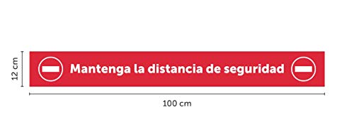 Pack de 4 Unidades de Vinilo para Distancia de Seguridad segunda mano  Se entrega en toda España