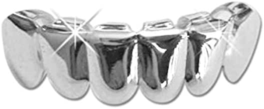 Hip Hop Platinum Silver Plated Removeable Mouth Grillz (bottom) Lower
