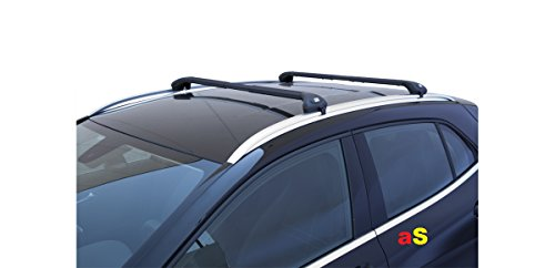 Barras portaequipajes para coches Viva 2,integrado, negro, para A4 Avant fabricada a partir de 2015