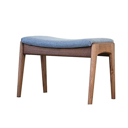 Sale!! Qiupei Vanity Stool Padded Bench with Wood Legs for Bedroom Vanity Stool Modern Makeup Dressi...