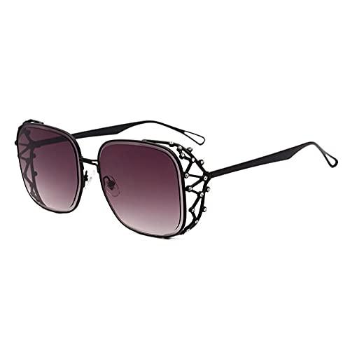 FSDFS Gafas de Sol cuadradas para Mujer, Gafas de Sol con Diamantes de imitación, Gafas de Sol para Mujer, Gafas graduadas para Hombre