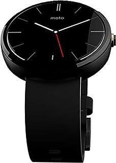 Motorola Moto 360 Smartwatch - Light Stainless Steel Case, Black Horween Leather Band
