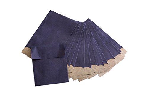 50 Stück kleine dunkel-blaue Mini-Tüten 7 x 9 + 2 cm Lasche Papiertüten Papier-Tütchen Papierflachbeutel Schmuck-Beutel Adventstüten Mini-Tütchen Schmucktütchen für give-aways Gastgeschenke