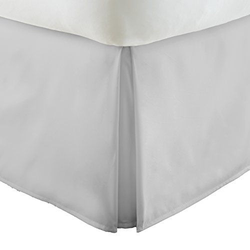 Simply Soft Pleated Bed Skirt, Queen, Light Gray
