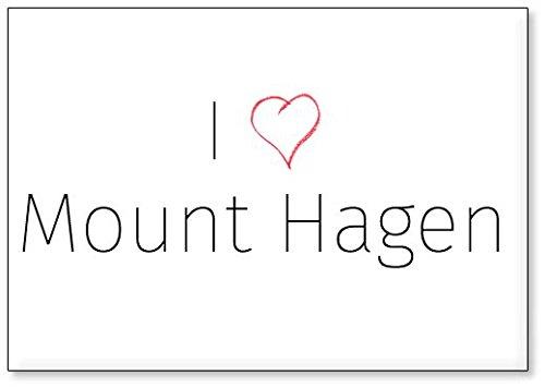 Mundus Souvenirs - Amo Mount Hagen, Imán para Nevera (diseño 3)