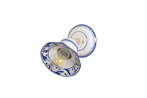 VANNI LAMPADARI - Lampada Parete art.002/410 e soffitto orientabile tipo spot In Ceramica Decorata A Mano Disponibile In 5 Finiture