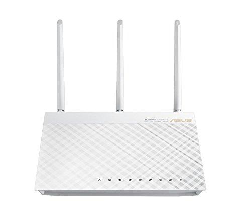 ASUS RT-AC66U - Router inalámbrico AC1750 Dual-Band Gigabit (Punto de Acceso, USB, soporta 3G/4G), Blanco