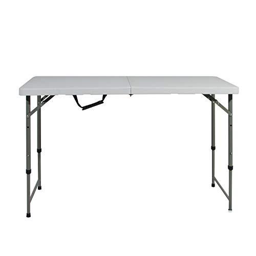 SogesHome Campingtisch Klapptisch faltbarer und höhenverstellbarer Gartentisch aus Aluminium keine Montage und leicht zu tragen, 122 x 60 cm HP-122CZ-SH-01