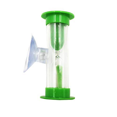 STOBOK 3 Minuten abnehmbare Kunststoff farbige Sanduhr Sanduhr (grün)