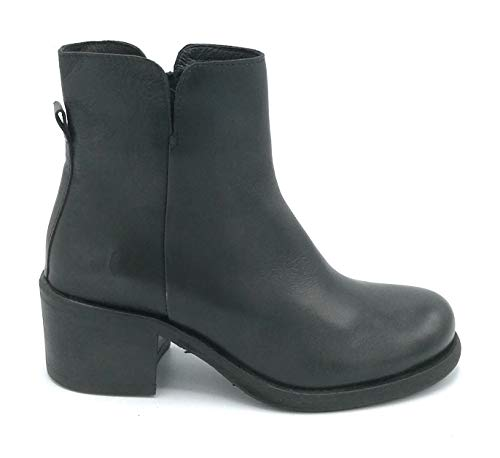 Felmini C069 laarzen leer zwart ritssluiting Largo 5 cm - schoen 41 kleur zwart