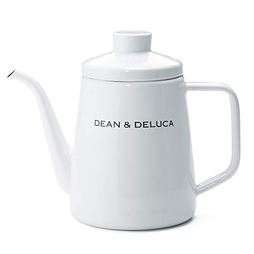 DEAN&DELUCAホーローケトルホワイト1.0L耐熱IH対応直火やかん高さ:約17㎝(フタなし:約13〜14㎝)底面直径約:11㎝