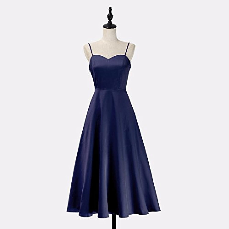 XIURONG Skirt Dress Dress Solid Small Waist Backless Cross