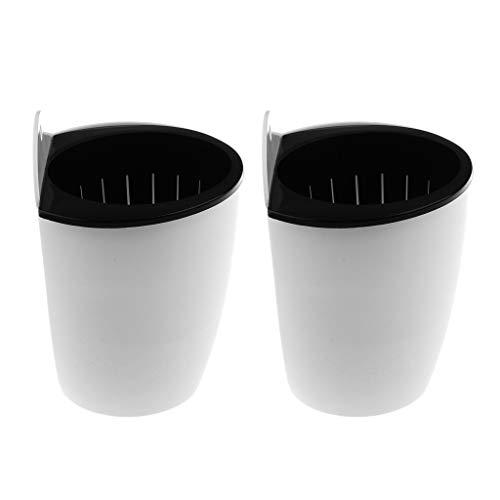 SM SunniMix 2 Stück Blumentopf selbstbewässernd aus Kunststoff Kräutertopf Selbstbewässerung Pflanztopf zum Aufhängen für Bewässerung Topf