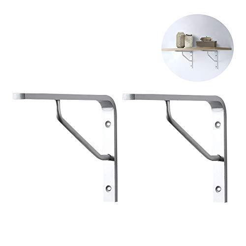 Yuany plankhouders 2 x 200 x 155 x 20 mm plankhouders industriële L-vorm plankhouders aluminiumlegering (zilver) met schroeven