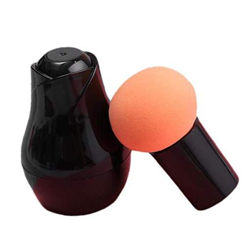 Onsinic 1Pc orange Maquillage Fondation éponge Eco Blender Beauté Cosmétique Egg Puff maquillage Pinceau éponge avec poignée et boîte