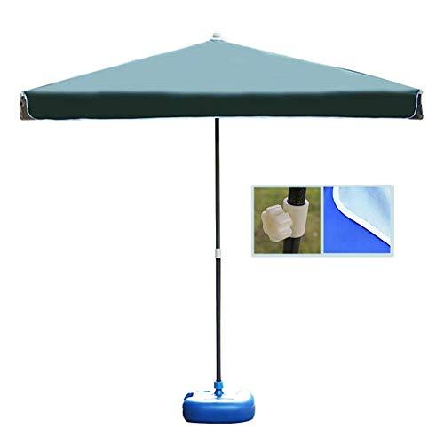 6.5 Ft Garden Umbrella Parasol Square Patio Beach Umbrella Sun Shelter, Portable Outside Market Umbrella for Outdoor Table Deck Garden*Product Code: WW-18 ( Color : Dark Green , Size : 6.5 Ft/200cm )