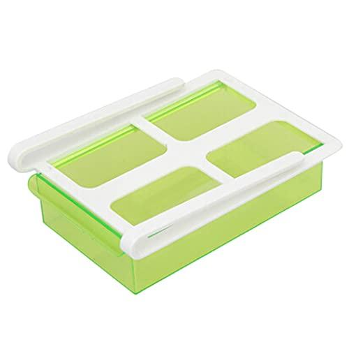 Dingyue Organizador de frigorífico con tapa para frigorífico, organizador de refrigerador, bandeja de almacenamiento con tapa reutilizable