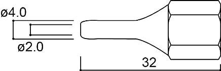 白光 ハッコー ホットメルト接着 電子部品接続用 メルター804用 交換ロングノズル 2.0MM A1084