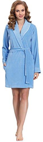 Merry Style Vestaglia Donna MS558 (Blu, XXL)