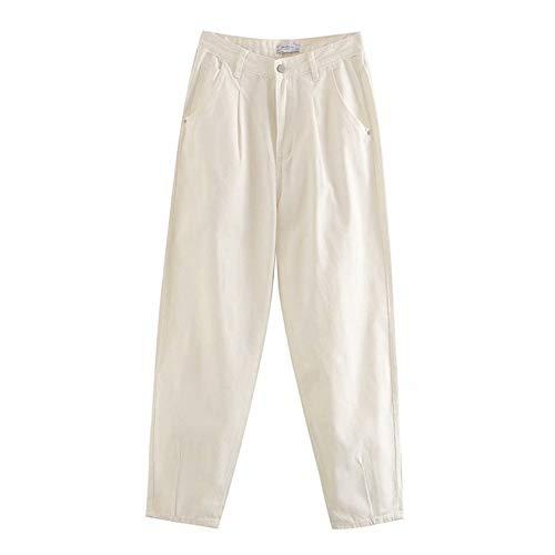 Pantalones Vaqueros de mamá de Color Caramelo para Mujer, Pantalones Largos Holgados Casuales de...