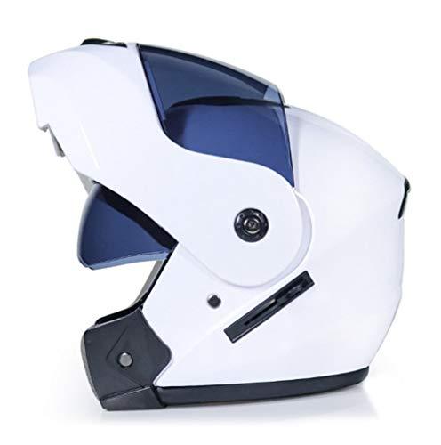 Yujeet Integralhelm Motorradhelm Männer & Frauen Mopedhelm Flip Helm (Style#12, S)