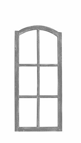 Posiwio Marco decorativo para ventana de madera, estilo vintage, color gris