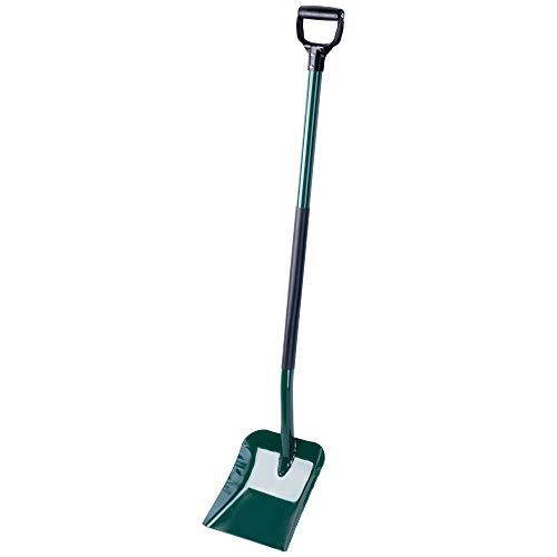 KADAX Schaufel aus Metall, Sandschaufel, Schippe mit ergonomischem Stiel, für Garten, BAU, zum Graben, Gartenwerkzeug, Grabschaufel mit stabilem Griff, Spaten (grün)