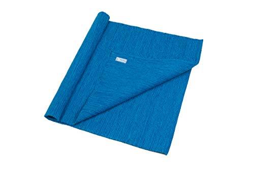 Blue Dove Yoga Mysore Handgewebte Yogamatte aus Bio-Baumwolle, blau, 180 x 70 cm