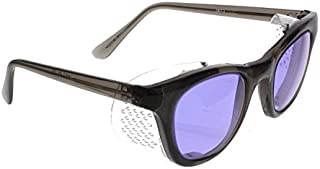 Ace Didymium Glass Working Spectacles in Economy Plastic Safety Frame with Permanent Side Shields - 50mm Eye Size