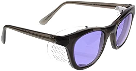 Phillips 202 Didymium Glass Working Spectacles in Sturdy Metal Frame with Removable Side Shields 53mm Eye Size