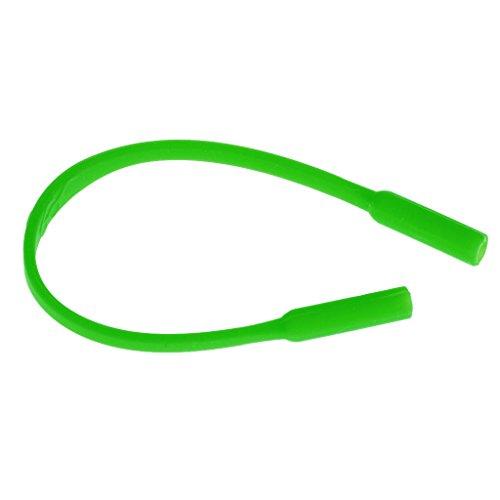 Kinder Silikon-Softstock Eyewear Schnur Brille Band Brillenschnur Brillenkette - Grün