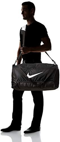 NIKE NK Brsla M Duff, 9.0 (60L) Gym Bag, Unisex Adulto, Black/ Black/ White, MISC