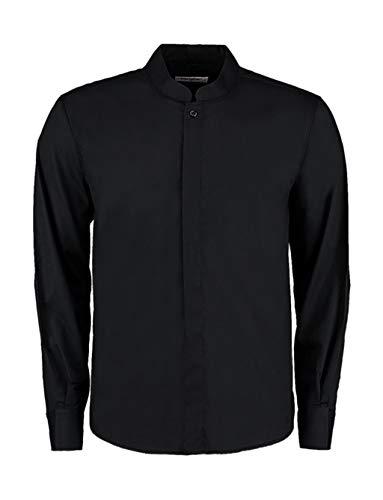 Bargear Langarm Kellner-Hemd mit Asia-Kragen KK123 XL,Black