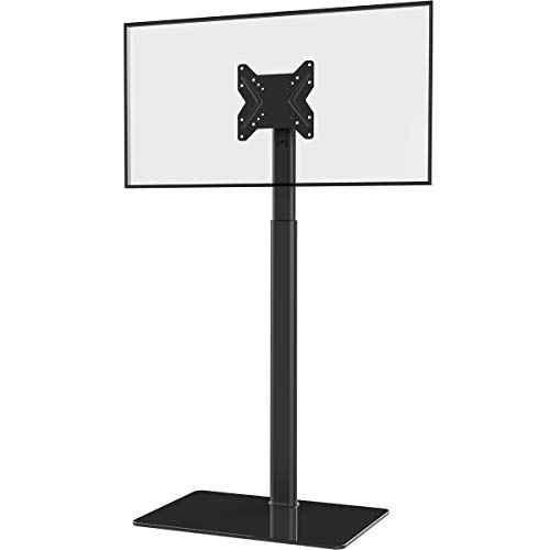 Universal TV Stand with Mount 100 Degree Swivel Height Adjustable and Tilt Function for 19 to 42 inch LCD, LED OLED TVs,HT1001B