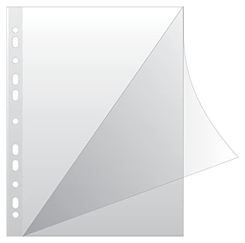 DONAU 1768950KG150-00 Prospekthüllen Typ L/ Oben und Links Offen Gelochte Klarsichthüllen für Dokumente Papiere Akten Ordner/ Öko PP 150 mikron/µm Din A4/ Glasklar Kristallin Transparent, 50 stk.